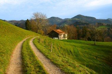 Autumn landscape in Swiss Alps