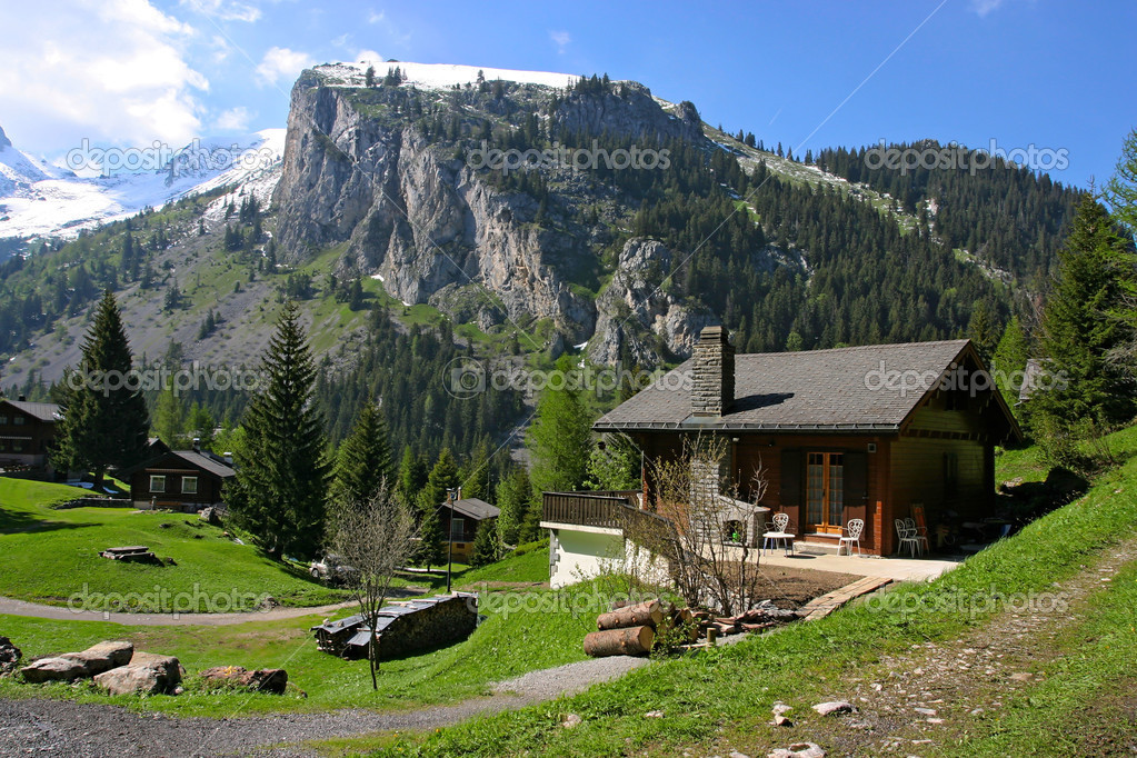 Holiday houses in Swiss Alps