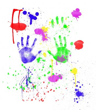 Child's Fingerpainting