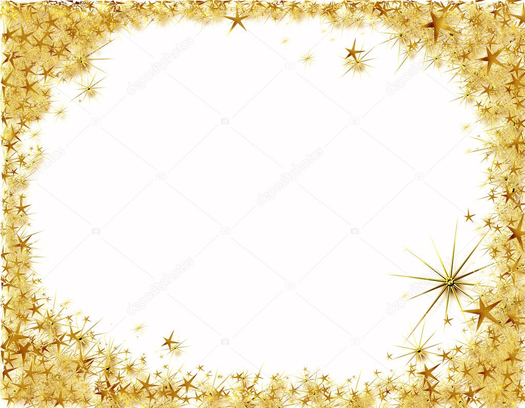 christmas starry border background with copy space photo by artida