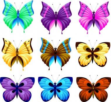 "Картина, постер, плакат, фотообои ""набор бабочек "", артикул 1838472"
