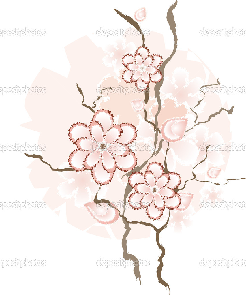 Chinese, floral design element