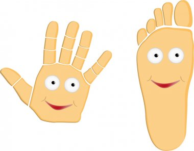 Hand And Foot Cartoon Illustration