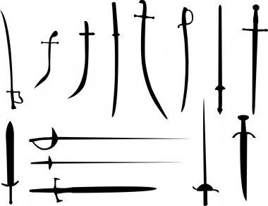 Sword silhouettes