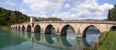 Old otoman bridge over river Drina