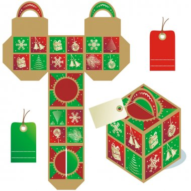 Holiday gift packaging template