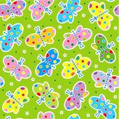 Photo Seamless butterflies pattern
