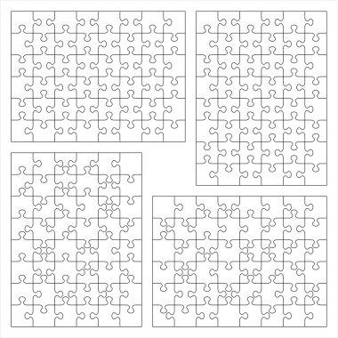 Jigsaw puzzle blank templates