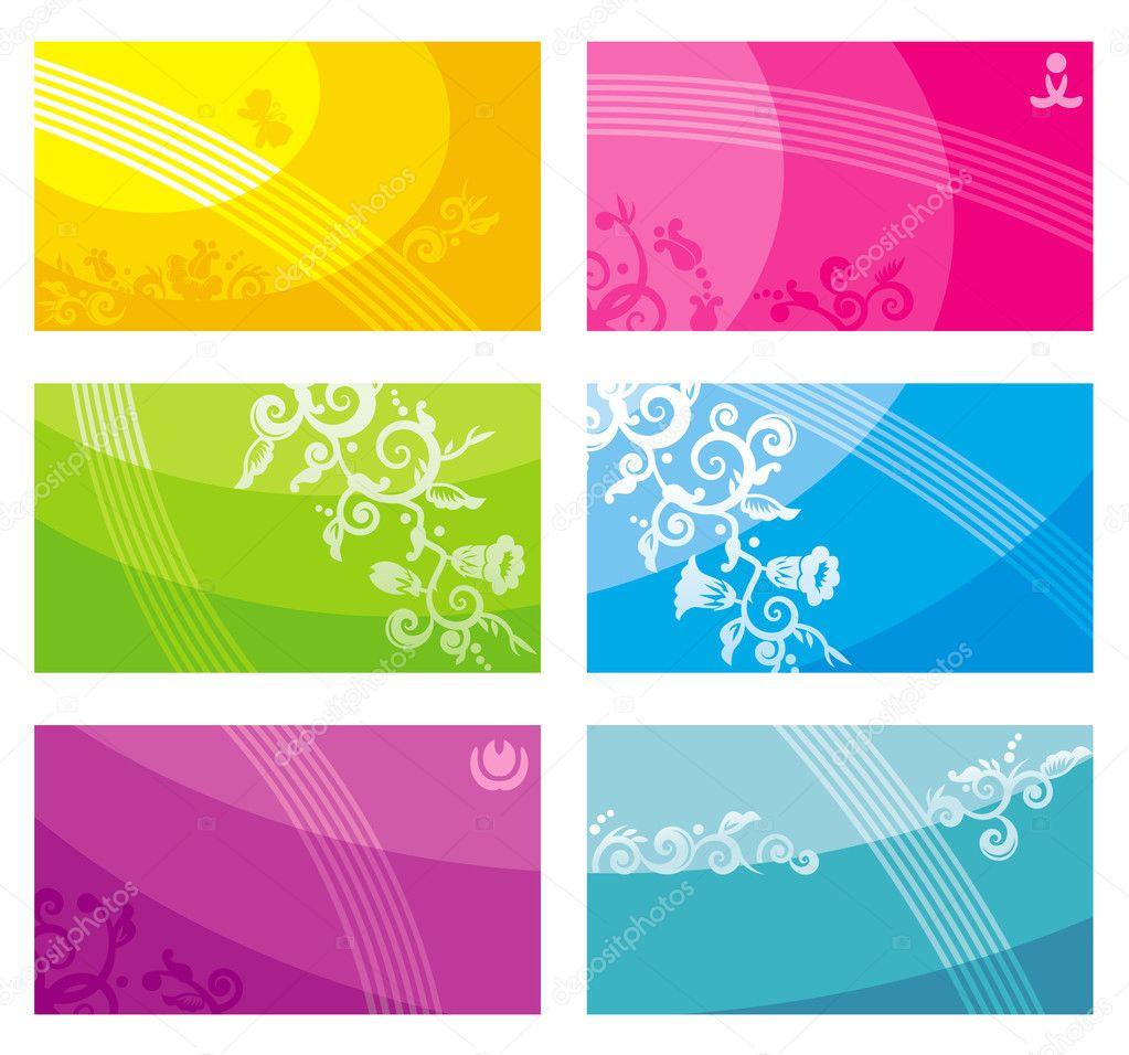plantillas de tarjetas de visita — Vector de stock © ratselmeister ...