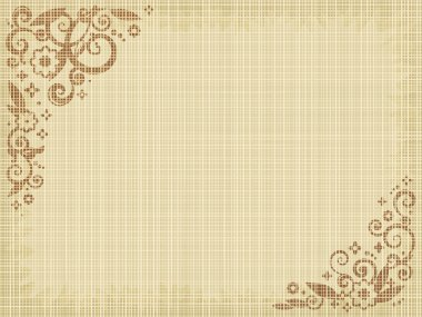 Floral print grunge canvas background, natural colors, fabric texture visible clip art vector