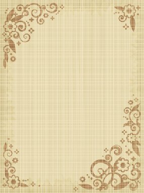 Floral print canvas background