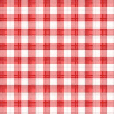 Red gingham seamless fabric