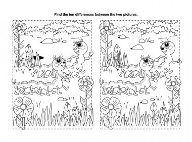 Puzzle or coloring page