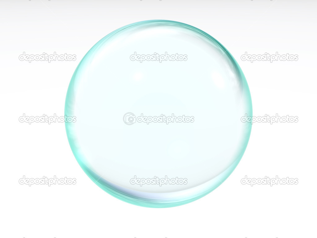 Blue transparent ball