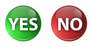 Button Yes No