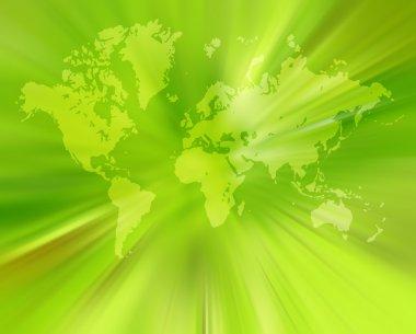 World map,2D digital art stock vector