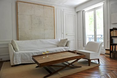 Aperitif in a modern living room