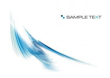 Blue ripple background