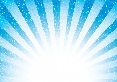 Abstract blue sunburst