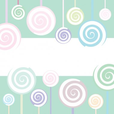 Vector Trendy Lollipop Background