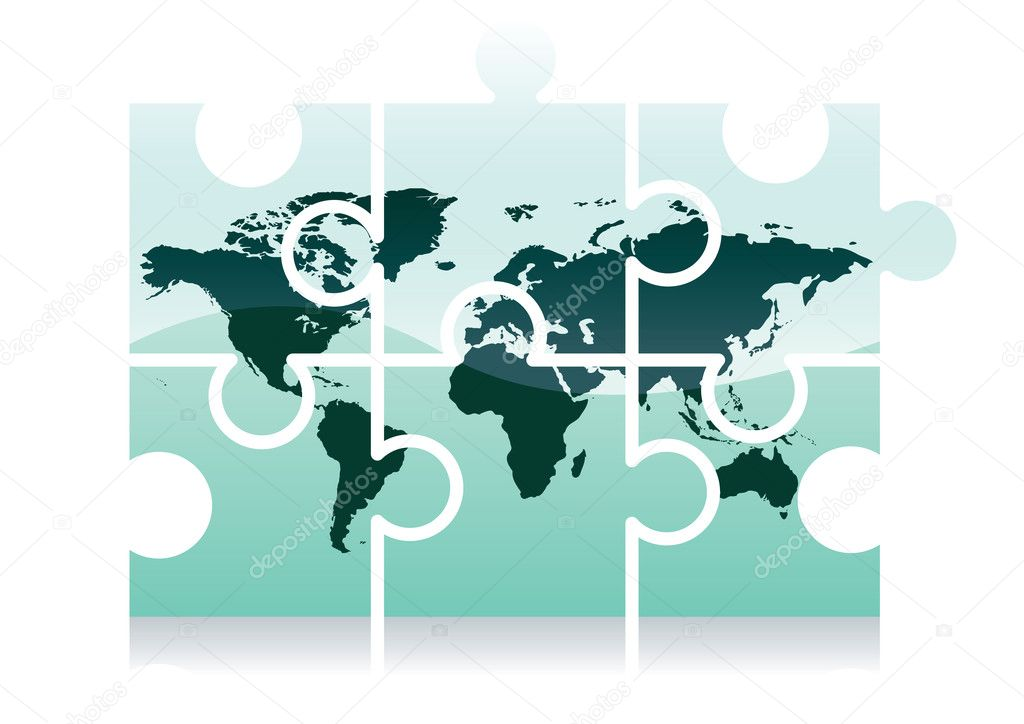 World map puzzle icon stock vector milinz 2009859 shiny jigsaw world map puzzle icon vector illustration vector by milinz gumiabroncs Choice Image