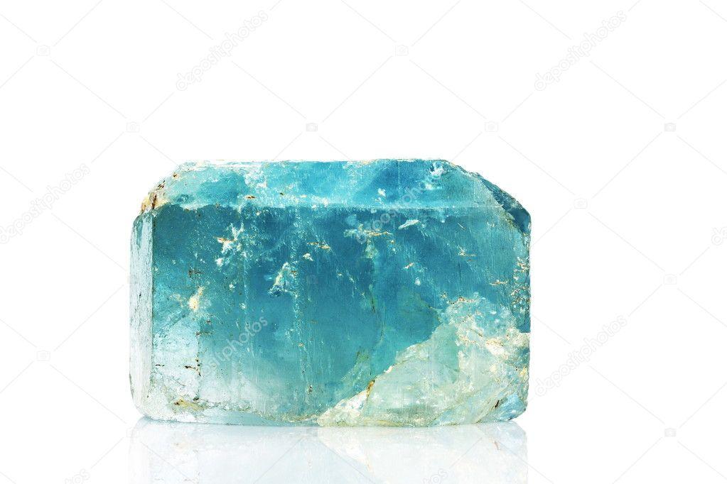 Natural blue topaz crystal