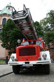 staré hasičské auto