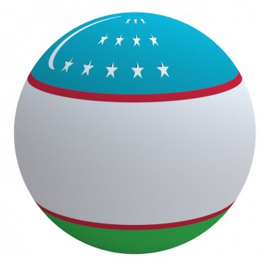 Uzbekistan flag on the ball