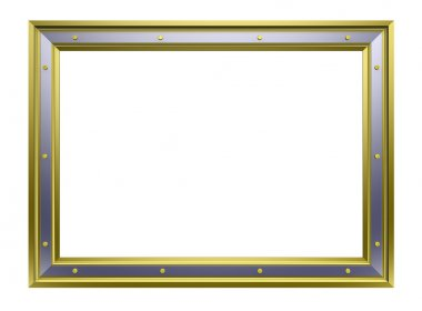 Gold-chrome picture frame