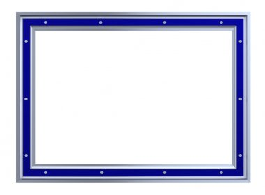 Silver-blue picture frame