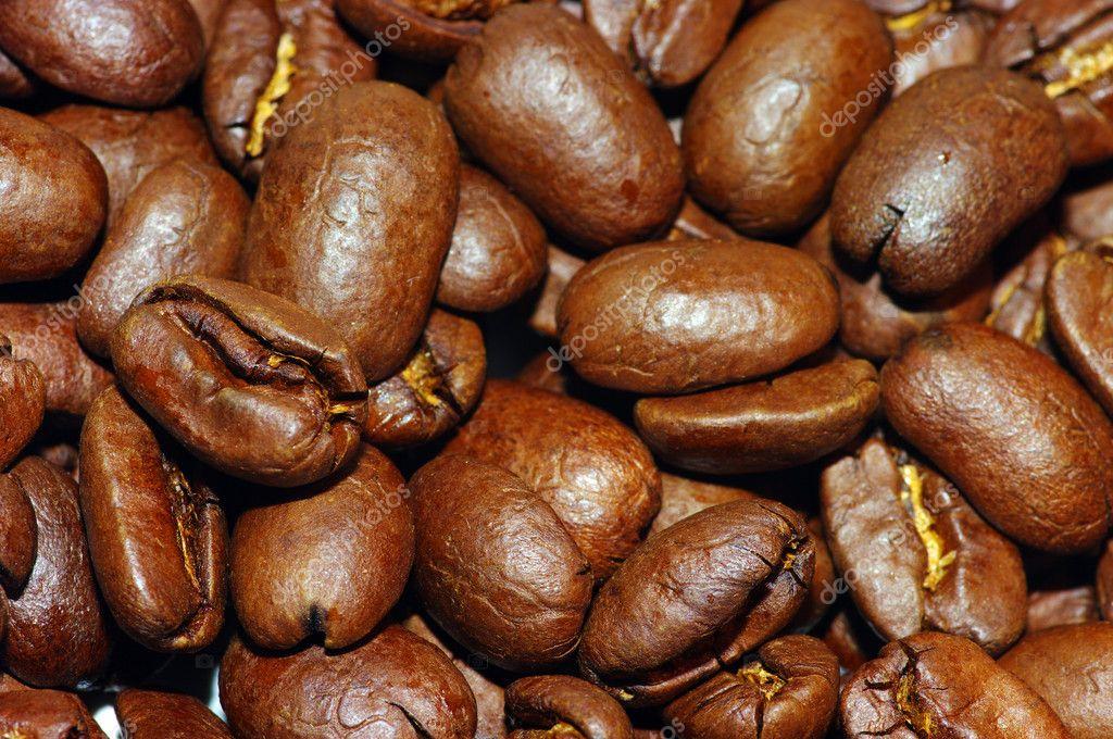 Coffee beans make lake background