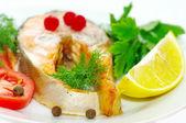 Grilovaná ryba se zeleninou