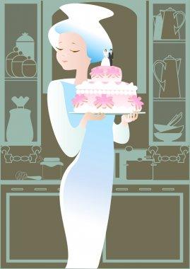Beautiful wedding pie