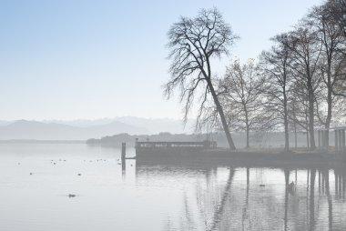 Alpine Landscape with Fog