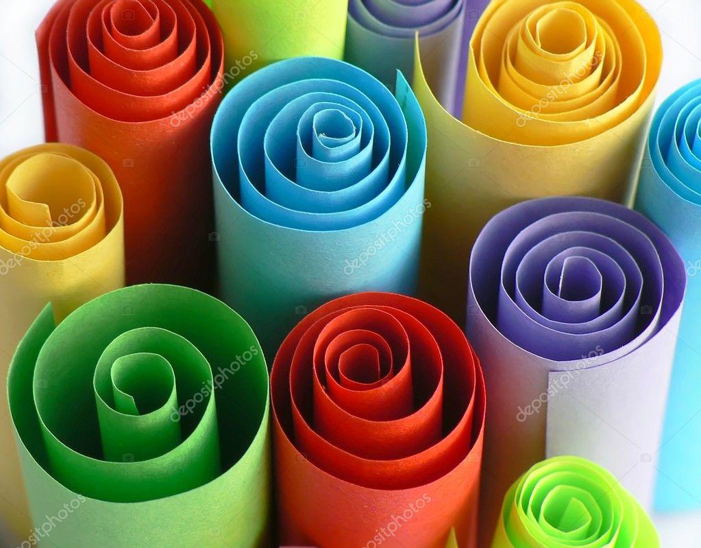 Rotoli Di Carta Colorata : Rotoli carta u foto stock tesanka