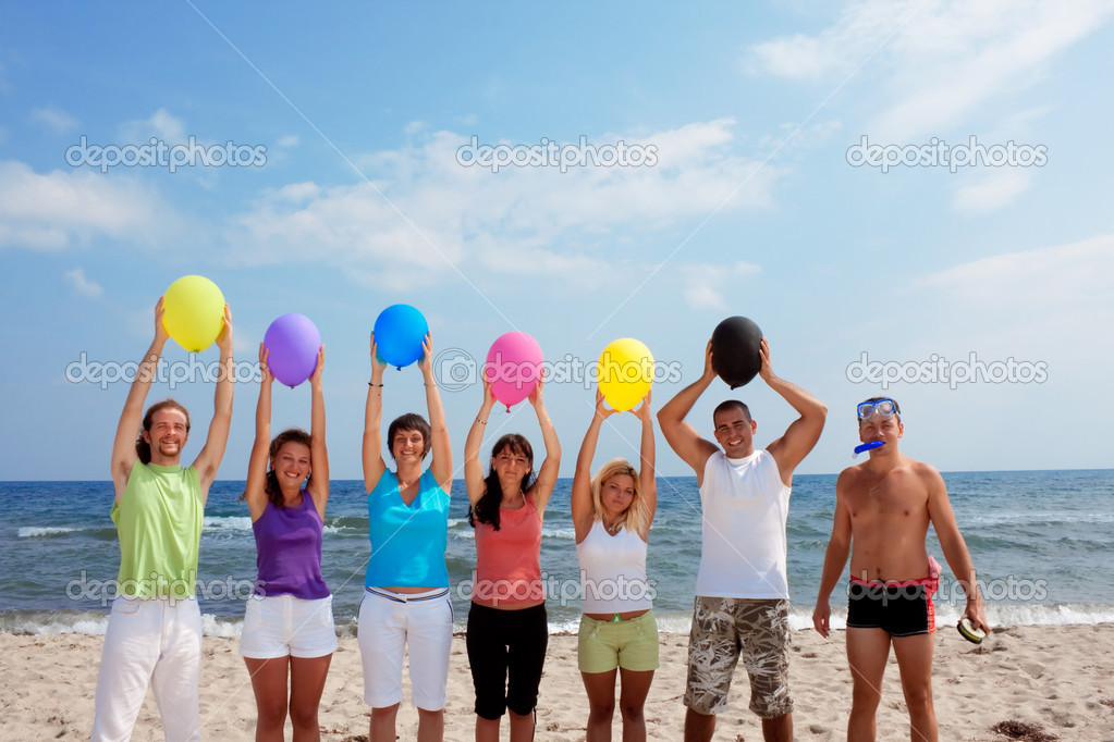 Funny with balloons