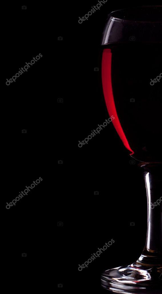 Half glass og red wine