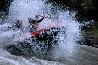 Whitewater Rafting Action