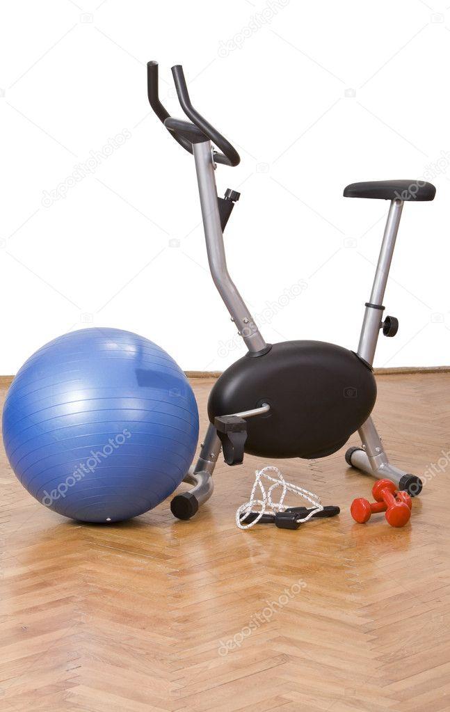 redskap på gym