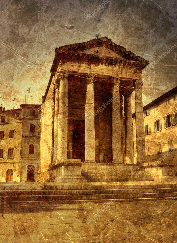 Ancient temple in Pula