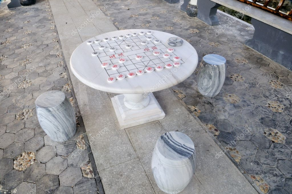 China Stone Table And Chinese Chess U2014 Photo By Shupian