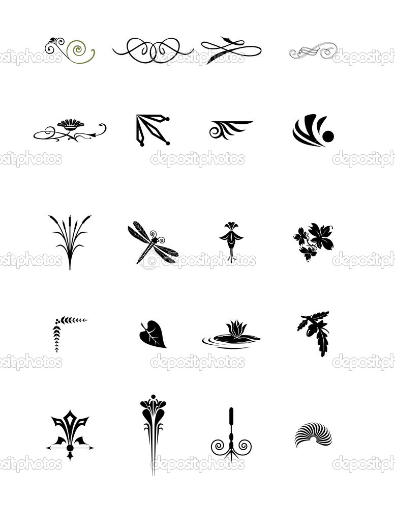 Decorative vegetable elements