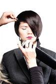 Fotografie Upevnění modelu vlasy
