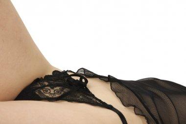 Woman with panties