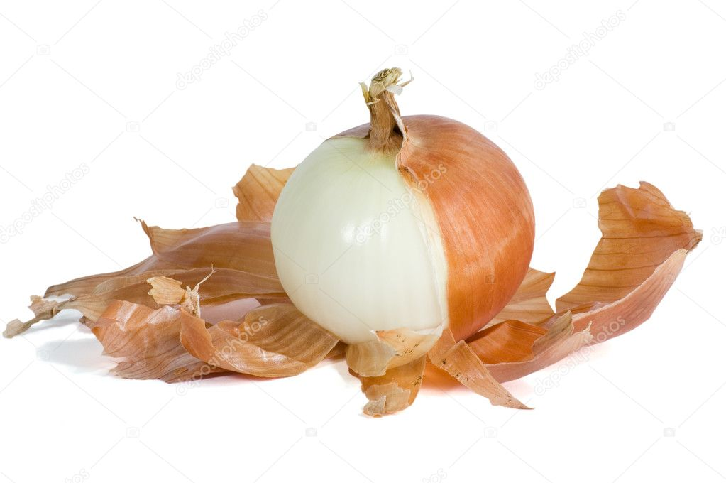 Onion Half Peeled