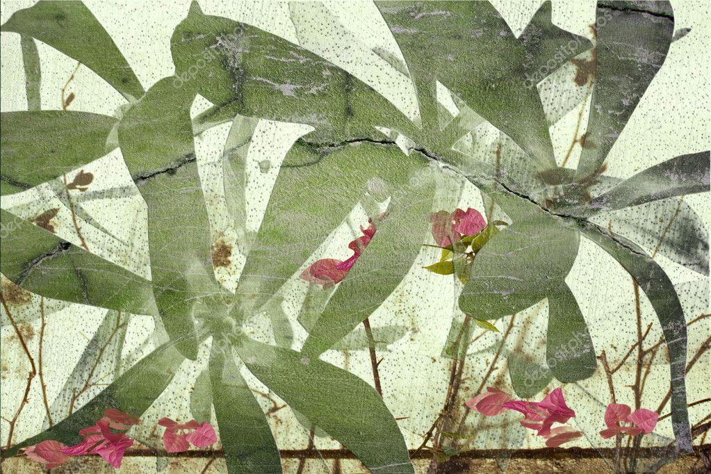 Highly textured flower art print