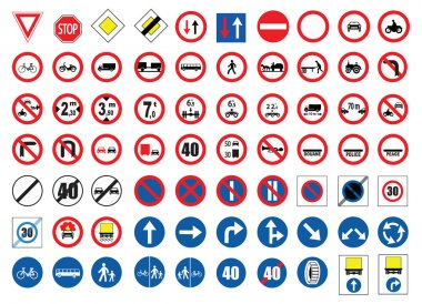Traffic signs stock vector