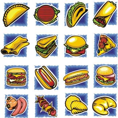 Fast food set - vector illustration.