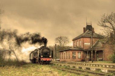 "Картина, постер, плакат, фотообои ""старый ретро паровой поезд"", артикул 1839332"