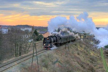 buharlı tren ile peyzaj